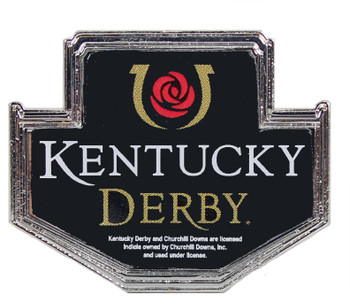 Kentucky Derby Lapel Pin - Silver Plated