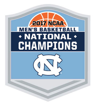North Carolina 2017 Men's Final Four Champions Trophy Pin