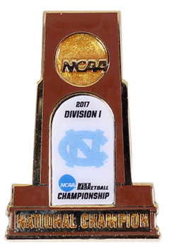 North Carolina 2017 Men's Final Four Champs Trophy Pin
