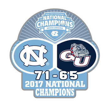 North Carolina 2017 Men's Final Four Champs Pin w/ Score