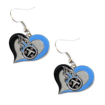 Tennessee Titans Swirl Heart Earrings