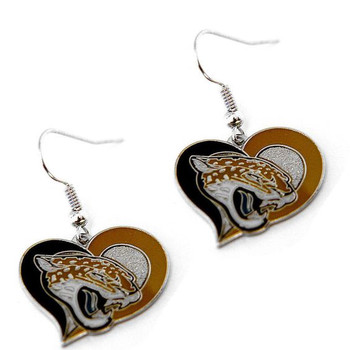 Jacksonville Jaguars Swirl Heart Earrings