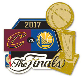 2017 NBA Finals Dueling Pin Cavaliers vs. Warriors
