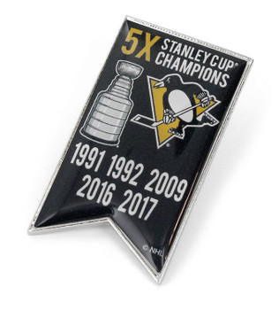 Pittsburgh Penguins 5-Time Stanley Cup Champs Pin