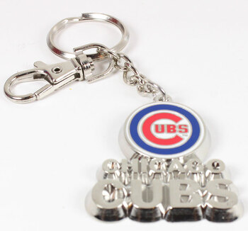 Chicago Cubs Sculptured Key Chain