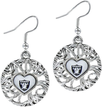 Oakland Raiders Ivy Earrings