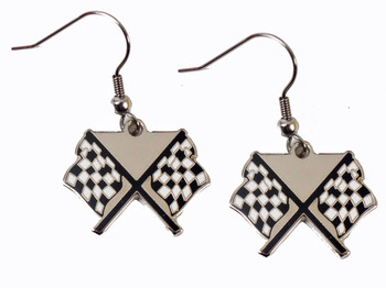 NASCAR Checkered Flag Earrings
