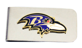 Baltimore Ravens Money Clip - Silver