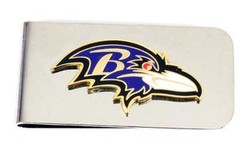 Baltimore Ravens Money Clip - Silver