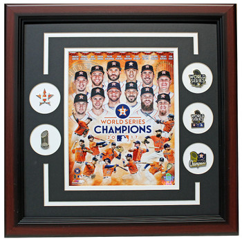 Houston Astros 2017 World Series Champions Framed Photo Pin Set