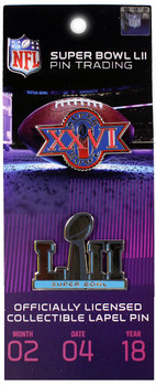 Super Bowl Minnesota Host Years Pin Set - SB XXVI & LII Pins