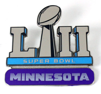 Super Bowl LII (52) Jumbo Pin in Collector's Case