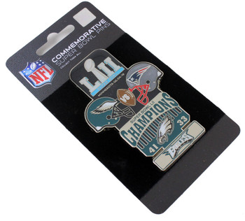 Super Bowl LII (52) Oversized Commemorative Pin - One Piece