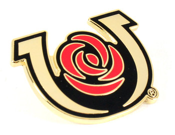 Kentucky Derby Horseshoe and Rose Pin