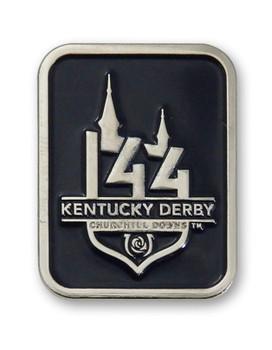 2018 Kentucky Derby 144 Logo Pin - Blue