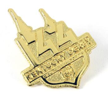 2018 Kentucky Derby 144 Logo Pin - Gold