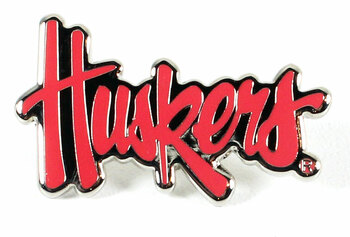 "Nebraska ""Huskers"" Logo Pin"