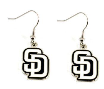 San Diego Padres Dangle Earrings - White