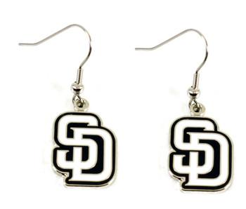 San Diego Padres Dangle Earrings - White