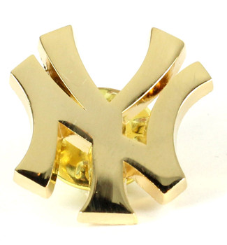 "New York Yankees ""NY"" Logo Pin - Gold"