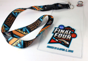 "2018 Men's Final Four Lanyard w/ Ticket Holder & ""I Was There"" Pin"