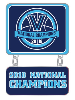 Villanova Wildcats 2018 Men's Final Four Champs Double Pin
