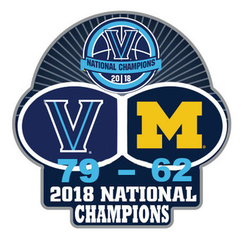 Villanova Wildcats 2018 Men's Final Four Champs Pin w/ Score