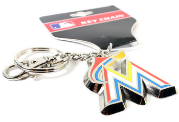 Miami Marlins Logo Key Chain.