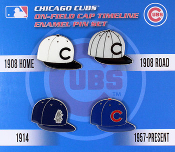 Chicago Cubs Cooperstown Collection Timeline Cap Pin Set