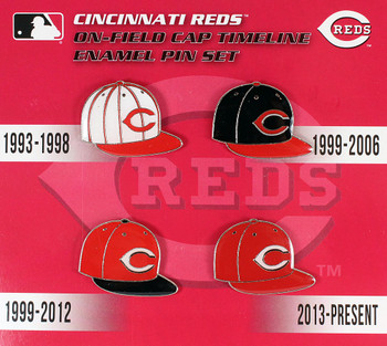 Cincinnati Reds Cooperstown Collection Cap Timeline Pin Set