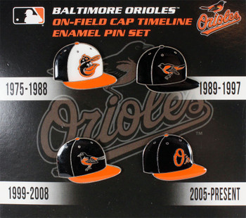 Baltimore Orioles Collection Cap Timeline Pin Set
