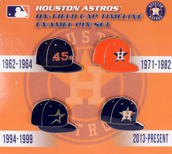 Houston Astros Collection Cap Timeline Pin Set