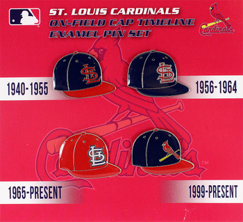 St. Louis Cardinals Cooperstown Collection Cap Timeline Pin Set