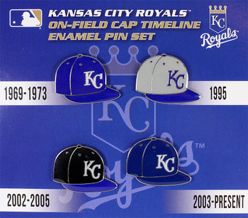 Kansas City Royals Cooperstown Collection Cap Timeline Pin Set