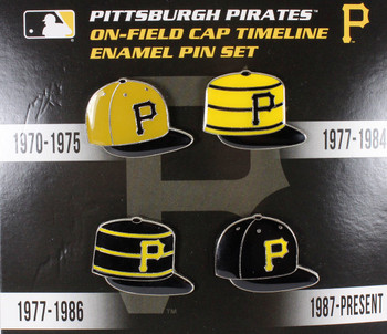 Pittsburgh Pirates Cooperstown Collection Cap Timeline Pin Set