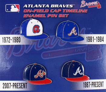 Atlanta Braves Cooperstown Collection Cap Timeline Pin Set