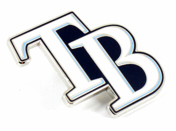 "Tampa Bay Rays ""TB"" Logo Pin"