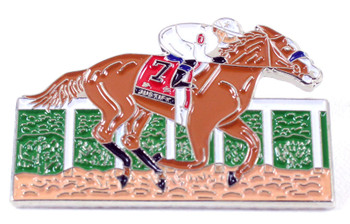 "Justify 2018 Triple Crown Winner Lapel Pin - From ""Justify"" Painting"