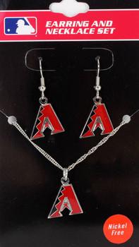 Arizona Diamondbacks Earrings & Necklace Combo