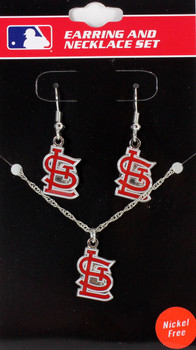 St. Louis Cardinals Earrings & Necklace Combo