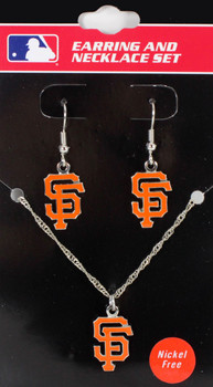 San Francisco Giants Earrings & Necklace Combo