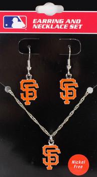 San Francisco Giants Earrings & Necklace Combo