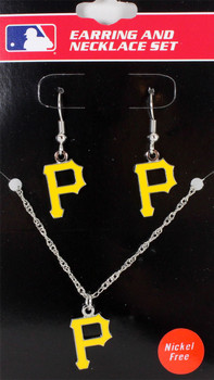 Pittsburgh Pirates Earrings & Necklace Combo