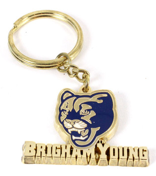 Brigham Young Brass Key Chain