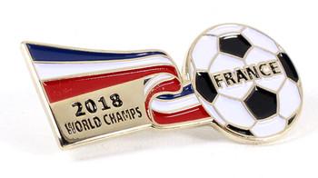 France 2018 World Cup Champions Ribbon Pin