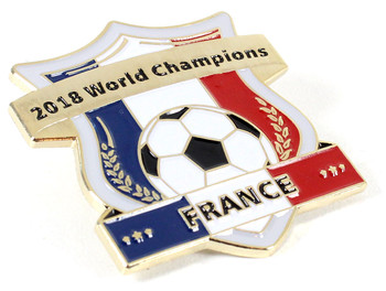 France 2018 World Cup Champions Crest Pin