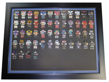 Super Bowl Oversized Commemorative Framed Pin Set - All Super Bowls