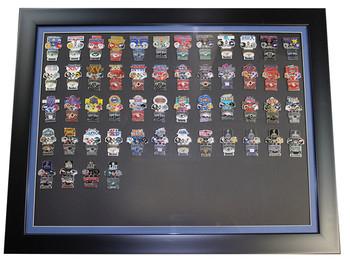 Super Bowl Oversized Commemorative Framed Pin Set - All Super Bowls