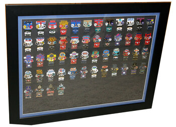 "Super Bowl Oversized Commemorative Framed Pin Set - 36"" x 29"""