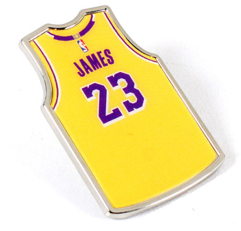 LeBron James Los Angeles Lakers Jersey Pin